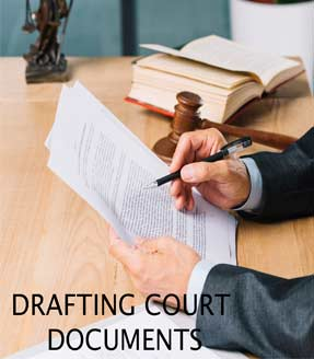 Drafting court documents