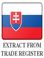 Extract from the commercial register of Slovakia