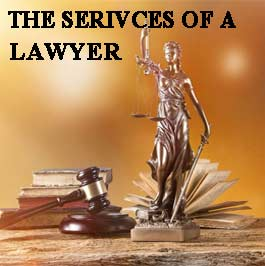 The services of a lawyer